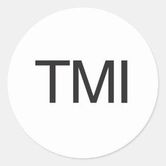 TMI CLASSIC ROUND STICKER