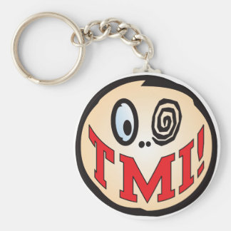 TMI Text Head Basic Round Button Keychain