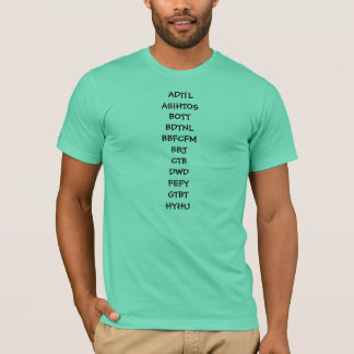 TMWSIY & other abreviations T-Shirt