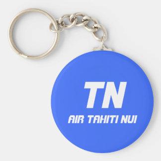 TN, Air Tahiti Nui Basic Round Button Keychain