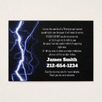 TN Attack Emergency Contact Business Card