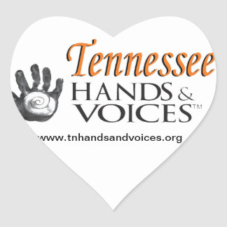 TN Hands & Voices Product Heart Sticker
