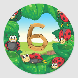tn_numsets_10 classic round sticker