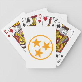 TN Stars Orange on White Playing Cards