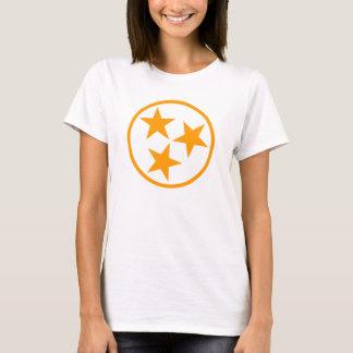 TN Stars Orange on White T-Shirt