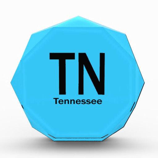 TN Tennessee plain black Acrylic Award