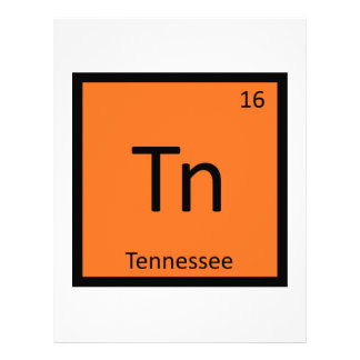 Tn - Tennessee State Chemistry Periodic Table Letterhead