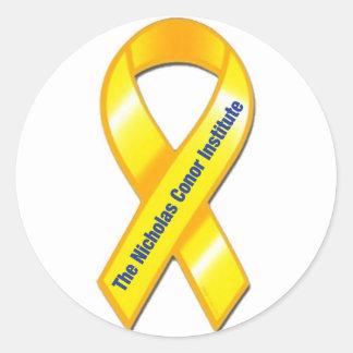 TNCI Awareness Ribbon Classic Round Sticker