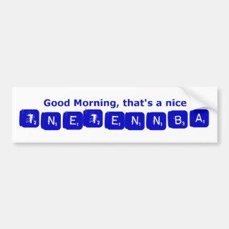 TNETENNBA - Buenos días Etiqueta De Parachoque