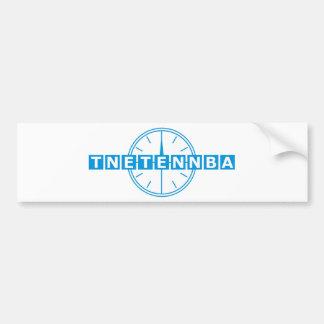 Tnetennba Clock Design Bumper Sticker