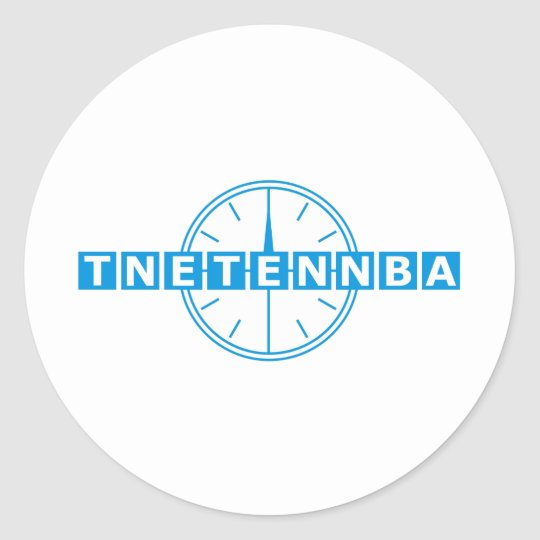 Tnetennba Clock Design Classic Round Sticker