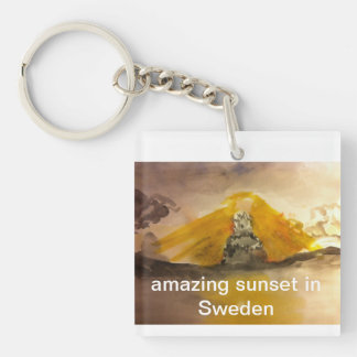 TNIT Square Keychain (Sunset in Sweden)