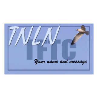 TNLN TFTC leave-behind card Business Card