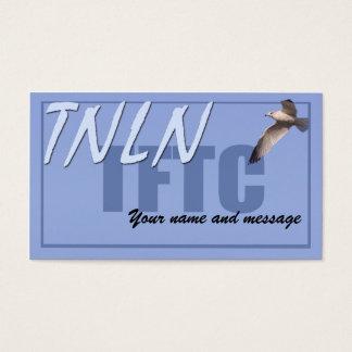 TNLN TFTC licencia-detrás de la tarjeta Tarjetas De Visita