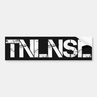 TNLNSL CAR BUMPER STICKER