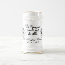 tnp, tnp, The Naughty Penguin, The Penguin, mad... Beer Stein