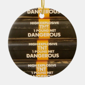 TNT Explosive Ceramic Ornament