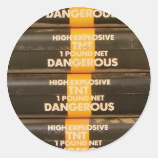 TNT Explosive Classic Round Sticker