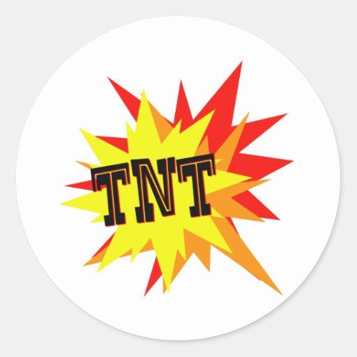 TNT ROUND STICKERS