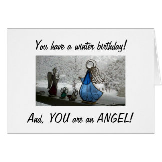 TO A BEAUTIFUL ANGEL ON HER WINTER BIRTHDAY CARD