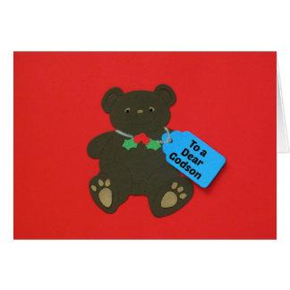 To a Dear Godson Greeting Card