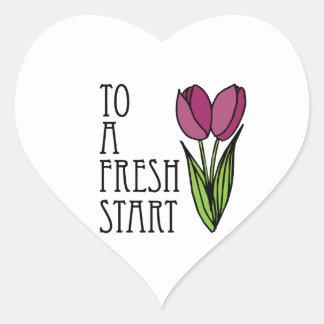 To A Fresh Start Heart Sticker