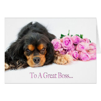 To A Great Boss With Cavalier King Charles Spaniel Card