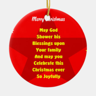 to a lovely famly at christmas ornaments