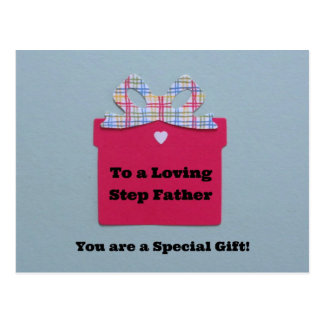 To a Loving Step Father Postcard