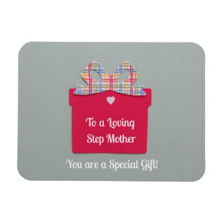 To a Loving Step Mother Rectangle Magnet