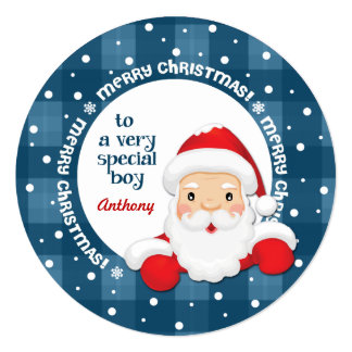 To a Special Boy from Santa Claus. Christmas Cards