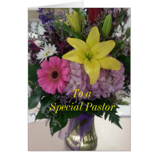 To a Special Pastor Card