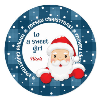 To a Sweet Girl from Santa Claus. Christmas Cards
