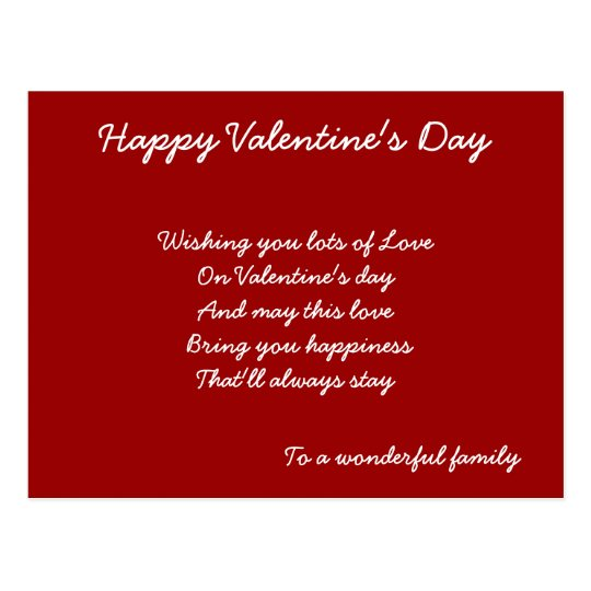 To a wonderful family valentines cards