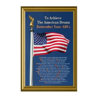 To Achieve The American Dream Remember Your ABCs Acrylic Wall Art
