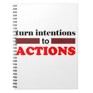to Action Spiral Note Book