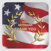 To All We Thank Veterans Day Stickers