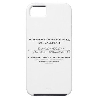 To Analyze Clumps Data Calculate Cophenetic Corr iPhone SE/5/5s Case