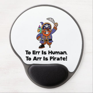 To Arr Is Pirate Cartoon Gel Mouse Pad