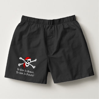 To Arr Is Pirate Skull Boxers