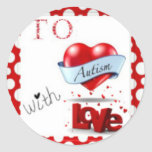 To Autism WIth Love Logo Stickers