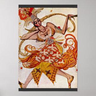To Ballettfigurine: Firebird By Bakst Léon (Best Q Poster