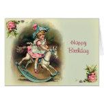 To Banbury Cross Happy Birthday Greeting Card