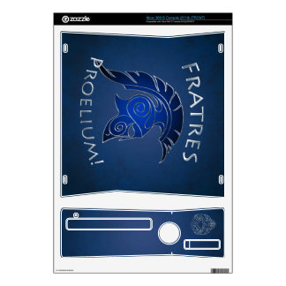 To Battle Silver Spartan Warrior Blue Xbox Skin Decal For Xbox 360 S
