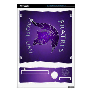 To Battle Silver Spartan Warrior Purple Xbox Skin Decal For Xbox 360 S