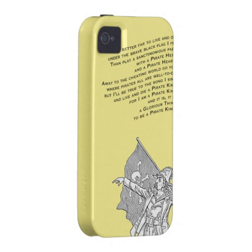To be a Pirate King Vibe iPhone 4 Cover