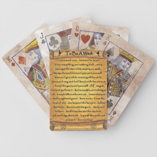 To Be A Witch Pagan Playing Cards