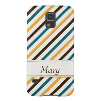 To be alone dark brown teal and or yellow striped galaxy s5 case