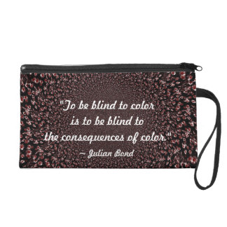 To be Blind to Color (Crimson) Wristlet