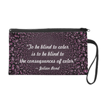 To be Blind to Color (Purple) Wristlet